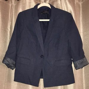 The Limited Blue Print Blazer